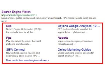 تصویری برای نشان دادن مفهوم سایت لینک ها